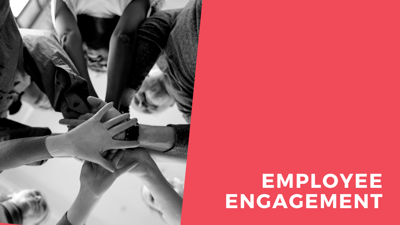 Decorative Header Image that Reads Employee Engagement